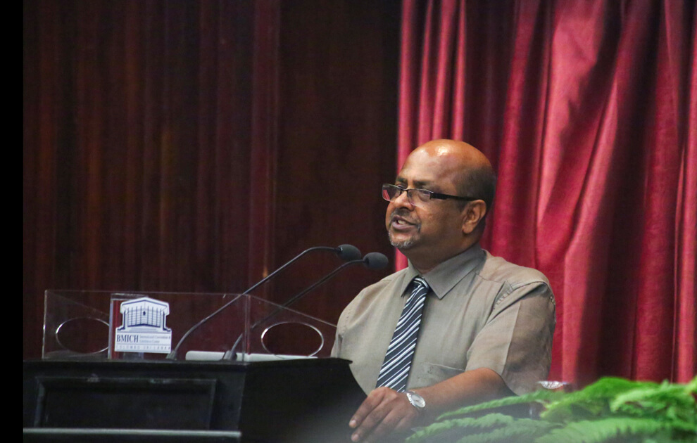 Dr. B.V. R. Punyawardena's Speech about Climate Reality