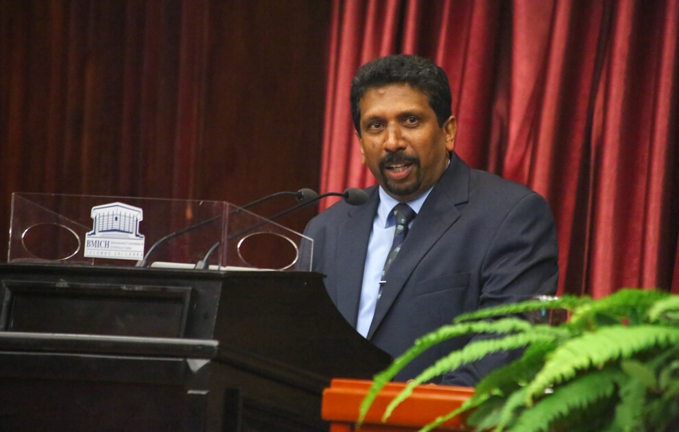 Speech of Dr. D. Sunimal Jayasinghe