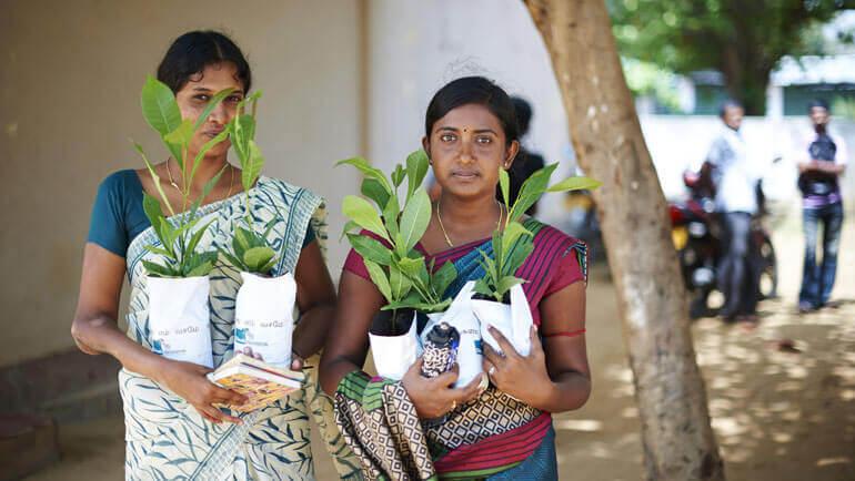 Beneficiaries of the Greening Batticaloa Initiative