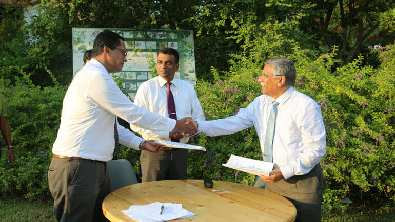 Signing of the Life Project agreement to restore a 10ha degraded fern land located in Opatha, Kanneliya