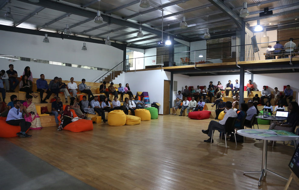 The Audience and Speakers at the MAS Innovation Centre