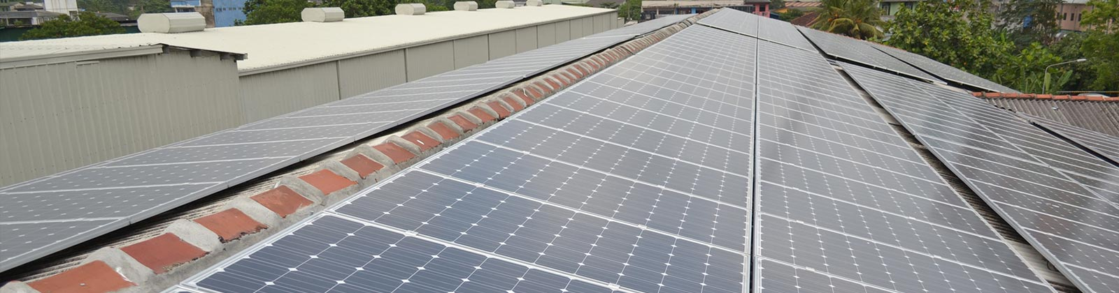 Solar Panels Fixed in Factory Roof