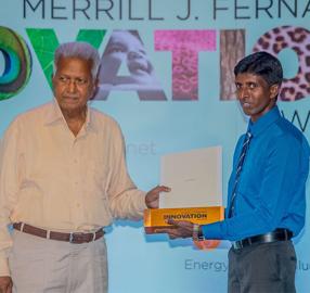 Innovation Award Winner K.K.L. Madusanka