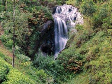 A Beautiful Scenery of a Waterfall