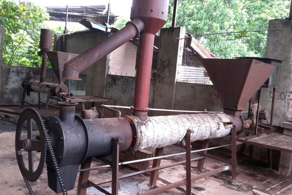 Machine used to make Biochar