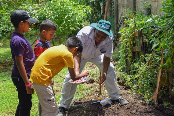 Planting Seeds by Children