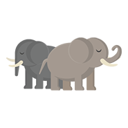 Animated Image of Two Elephants