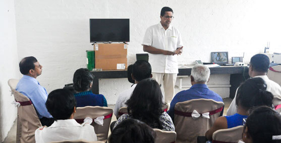 Dilhan C. Fernando Giving a Lecture