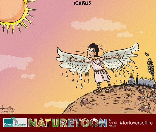 Cartoon Image about Global Warming Effects