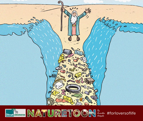 Cartoon Image about Waste in Ocean